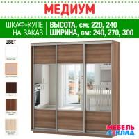 Шкаф-купе МЕДИУМ 3-х ств