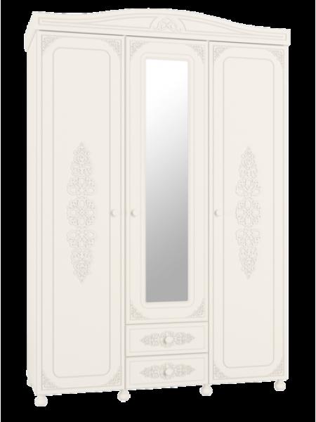 Шкаф Ассоль трехстворчатый комбинированный с зеркалом