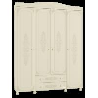 Шкаф четырехстворчатый комбинированный Ассоль