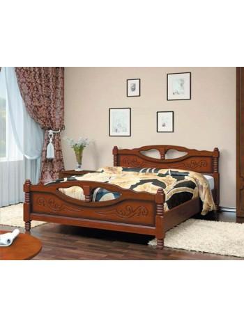 Кровать Елена 4 орех