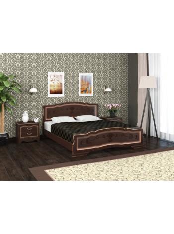 Кровать Карина 6 орех темный