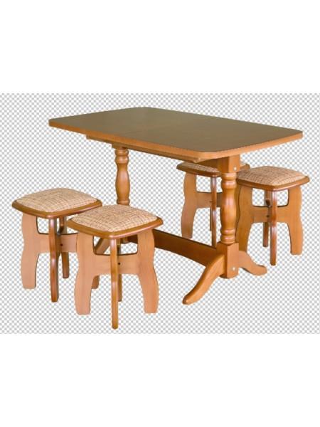 Обеденная группа  стол прямоугольный (модернизированный) + 4 табурета