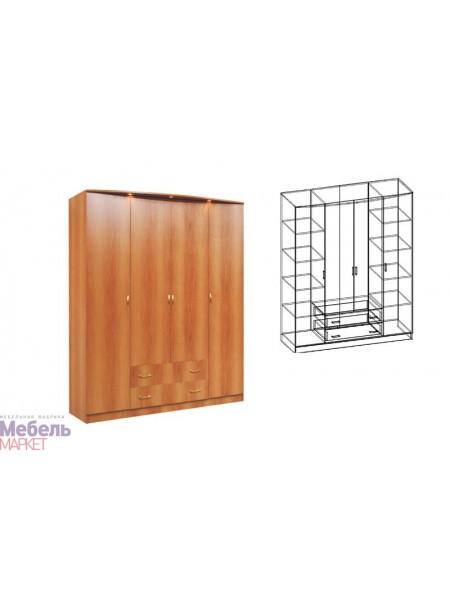 Шкаф четырехстворчатый комбинированный Светлана